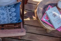 We have many areas on the deck to relax and finally get to read that book on your to do list.