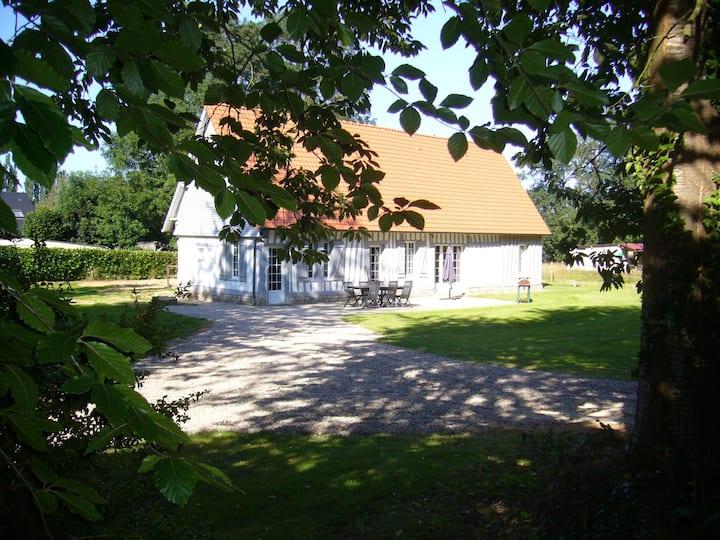 Maison normande à Luneray, proche de la mer