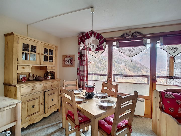 FLAT WITH SWIMMING POOL ACCESS - SAINT JEAN D'AULPS SKI RESORT - 4 PEOPLE- DAILLE S22