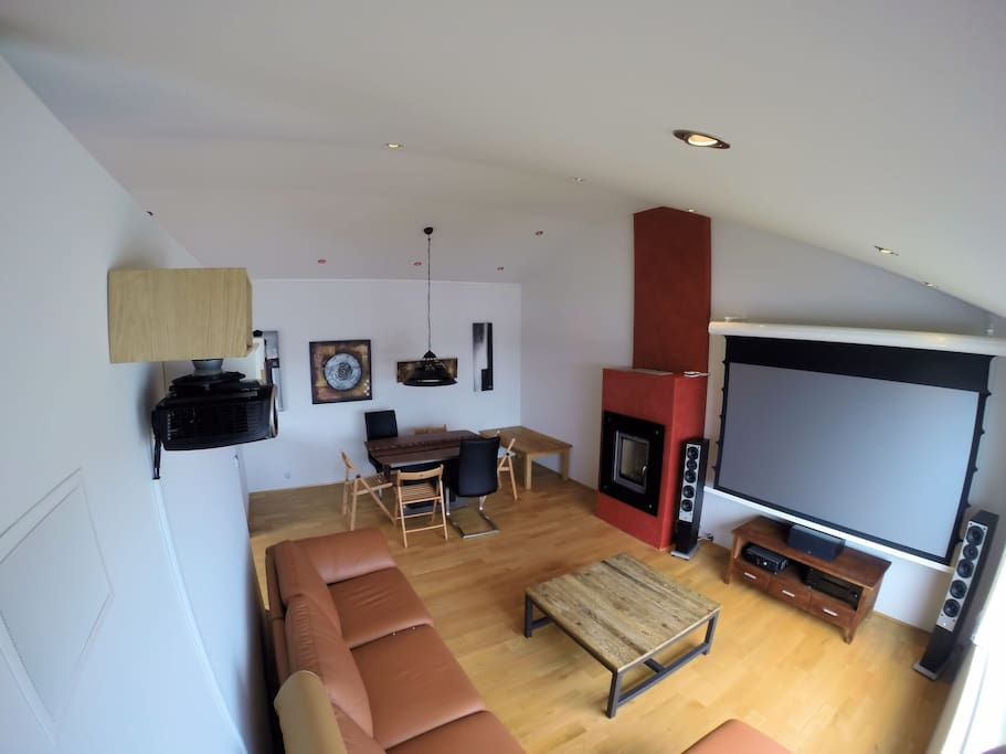 Living room with home theater