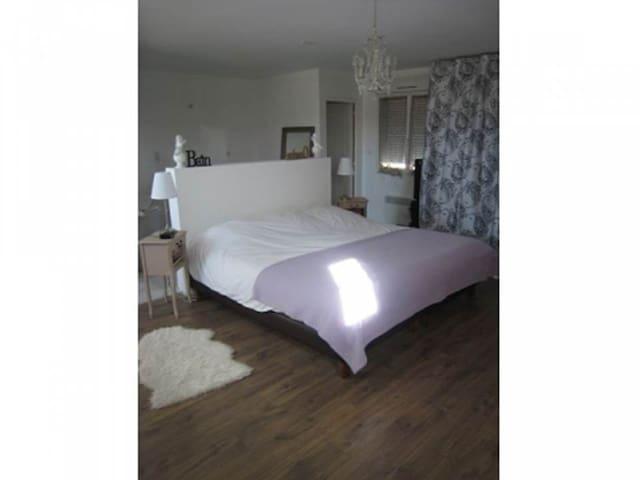 Chambre 40 m2 avec salle de bain et toilettes - Rosières-prés-Troyes - Appartement