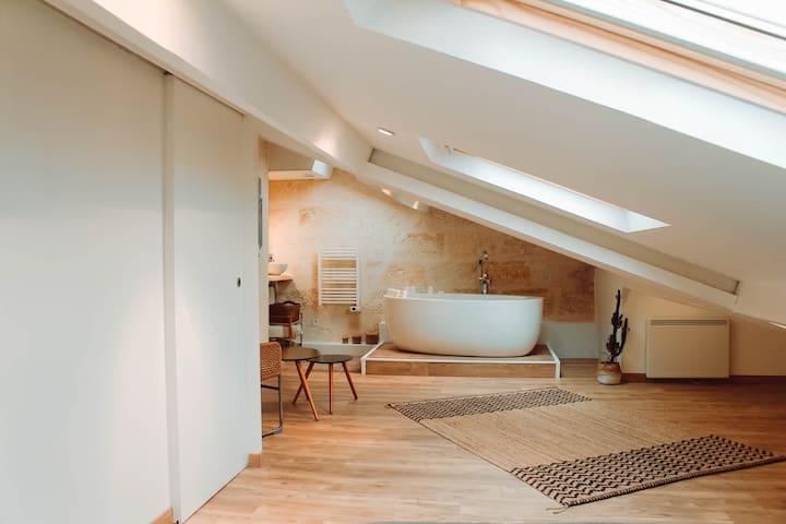 50m2 Chambre avec Salle de bain privée