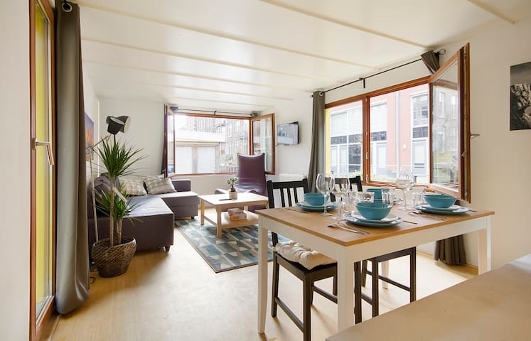 Bright and Cozy Houseboat - Ámsterdam - Barco