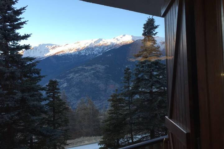Studio apartment with balcony view