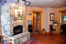 Ranch House - Gas Fireplace (located in Dining Room)