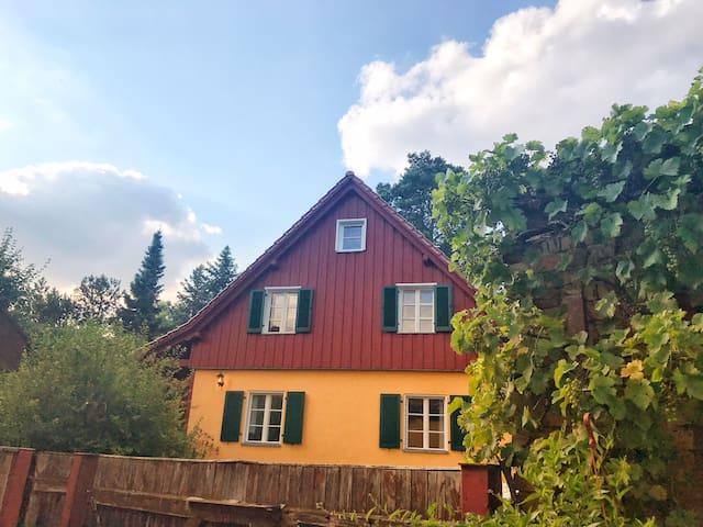 Urlaub im Adlerhorst des gelben Försterhauses