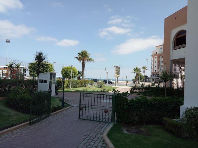 Appartement résidence iris en face plage