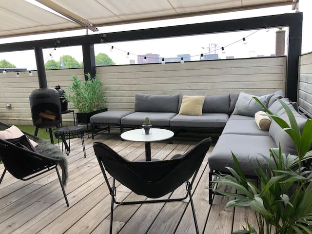Amsterdam| large terrace | free parking