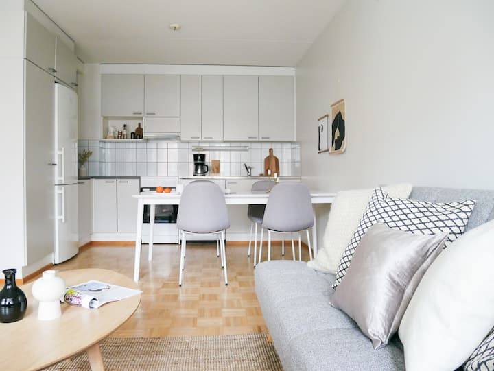 Beautiful apartment w/ sauna and balcony for max 6