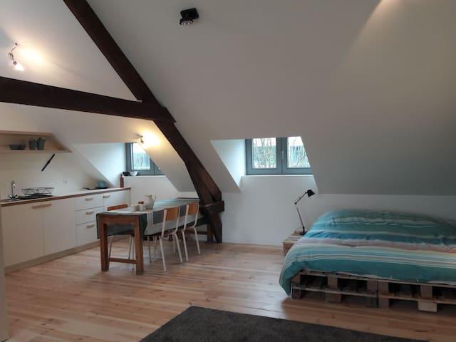 Charming attic studio near railway station