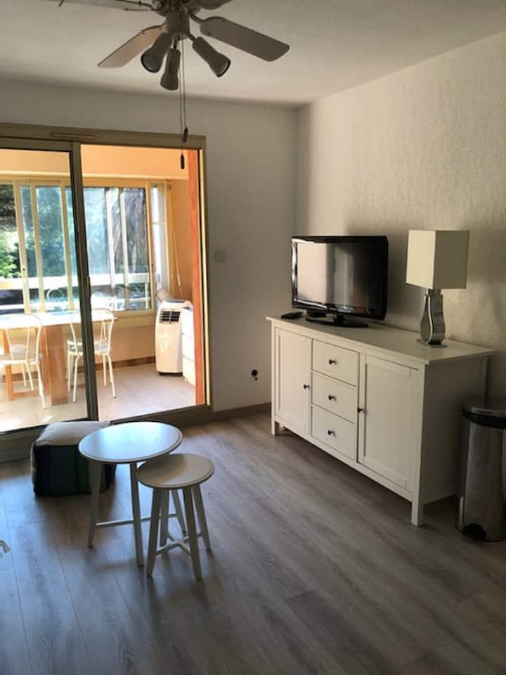 Studio 29 m² entièrement renové et climatisé