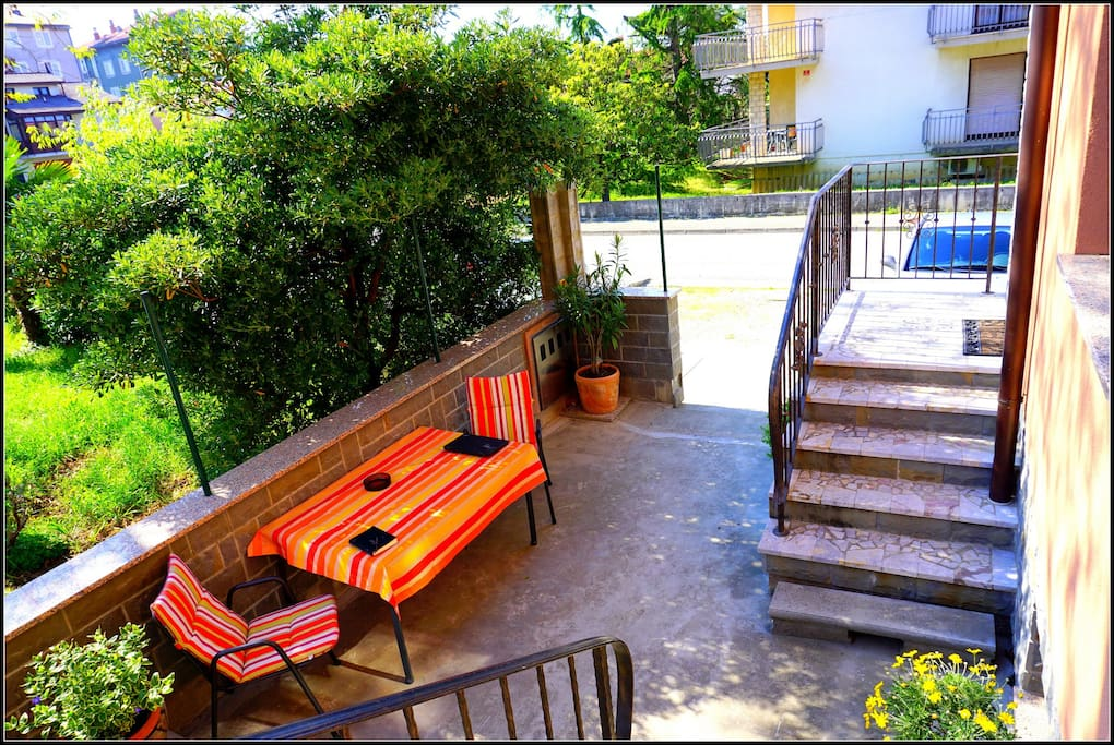 Your terrace with sitting area