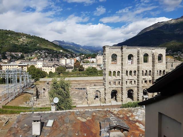 Aosta con Vista....Teatro Romano!