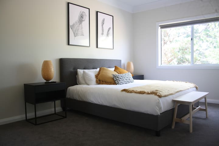 The Master Bedroom is very spacious. There is also a fold out double sofa bed available for extra guests after special arrangement. Ensuite and wall mounted TV are additional features.