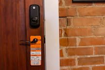 Guests may borrow a parking permit during their stay, which is hanging on the front door and ready to be used.