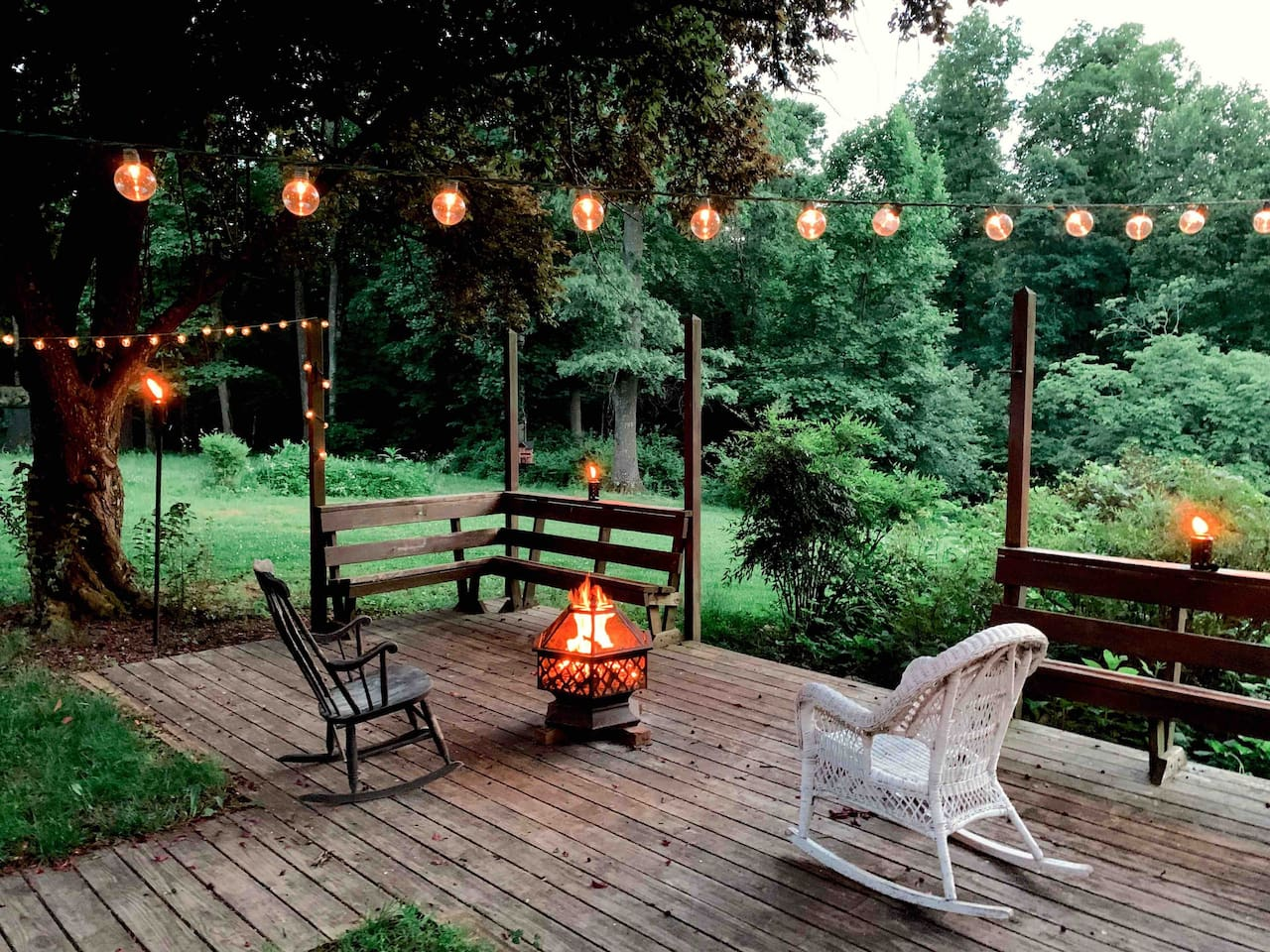 Feel free to enjoy the fire pit, as long as we're home you're welcome to make a fire!