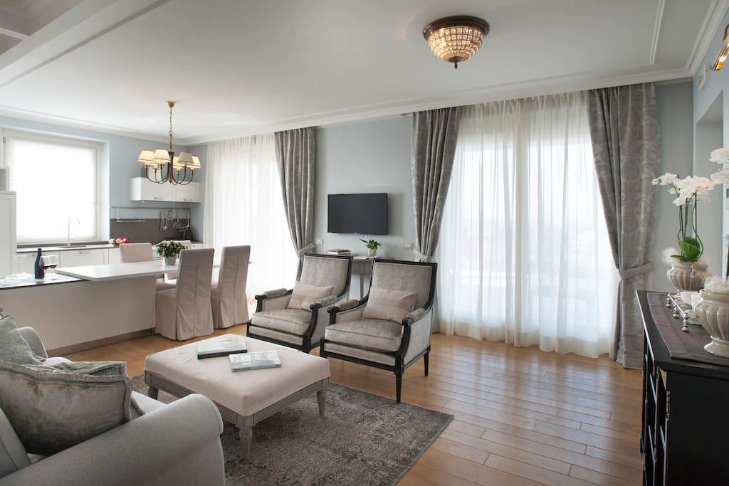 Villa Vitae - Luxury apartments - Appartamento Napoleone - zona giorno