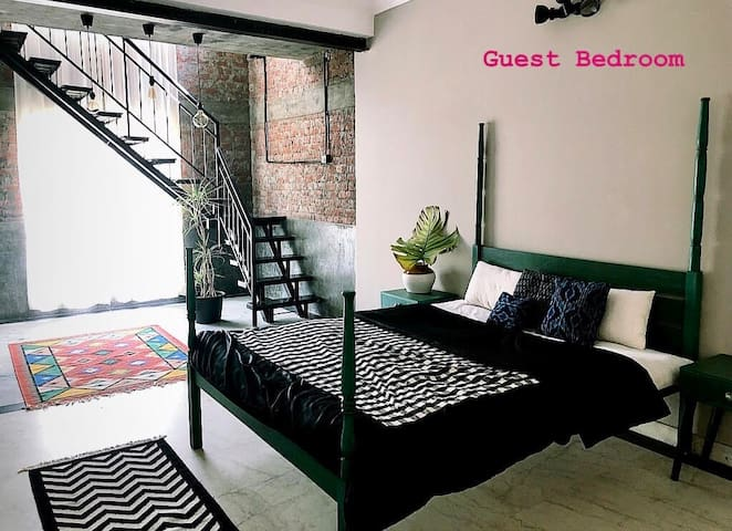 A Room in an Arty Terrace Apartment in South Delhi