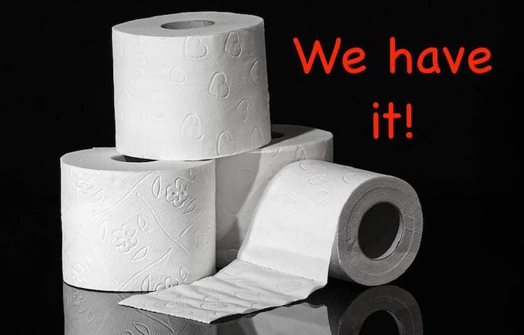 Want toilet paper? We have it! #fightingthecorona