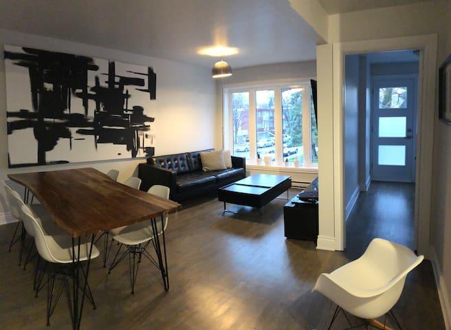 Chambre moderne à proximité du centre-ville de Mtl