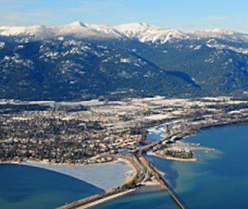 Aerial view of Sandpoint