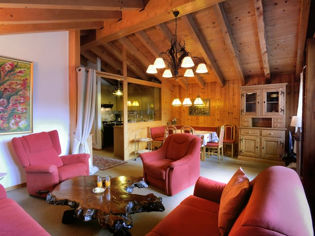 Cozy roof apartment in Täsch, near Zermatt