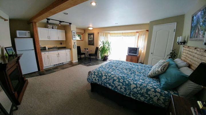 Spacious Private Suite w/ Garden Patio & Hot Tub