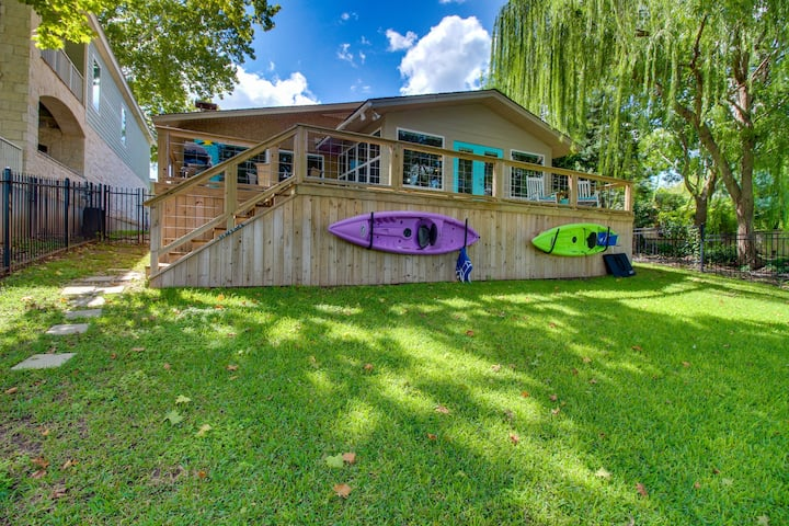 Dog-friendly lakefront home with private sun deck and boat lift!