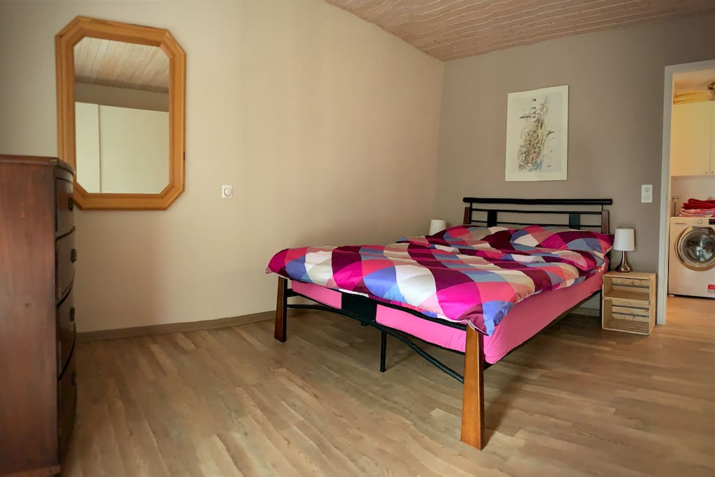 Double Bedroom with wardrobe,drawers and access to balcony