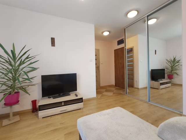 Double room apartment in village close to Wroclaw