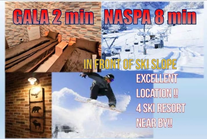 RM⑤ Right in front of ski slope!near GALA!wifi