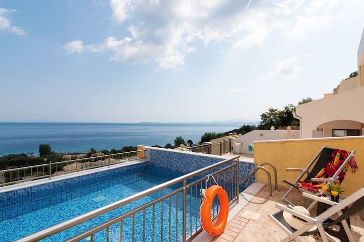Corfu Sea View Villa Aurora