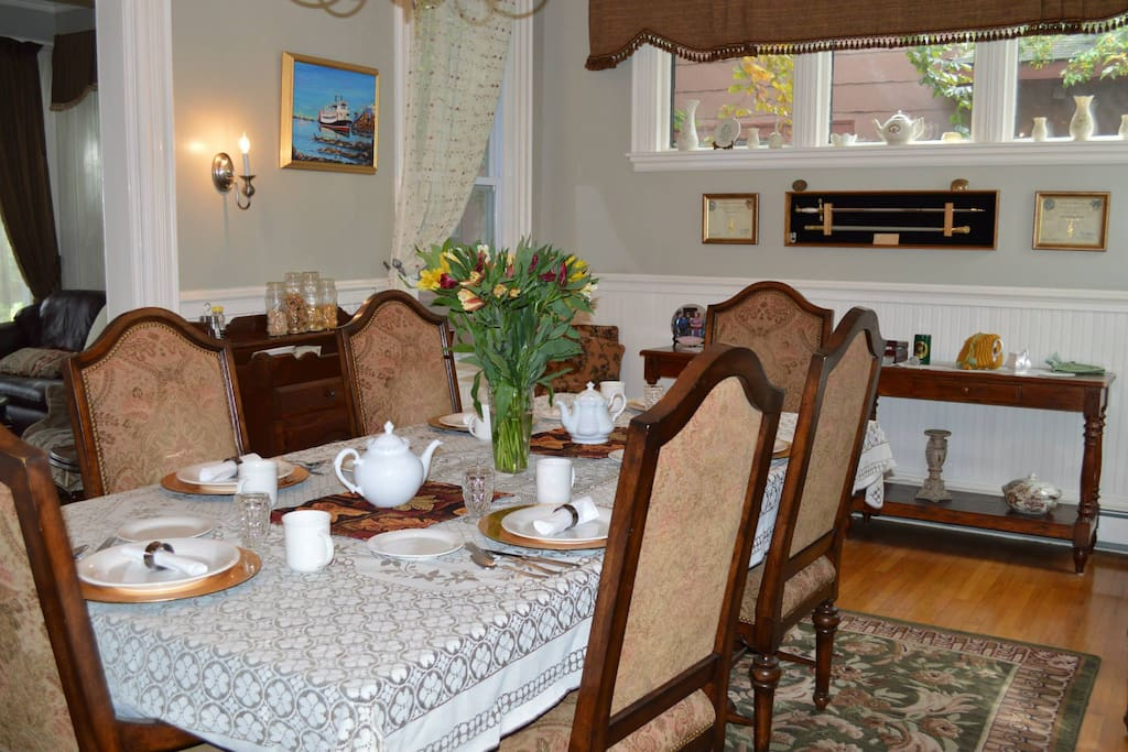 Enjoy cooked breakfast in our  dining room.