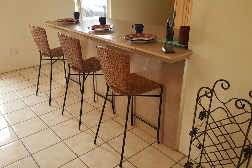 Bar for extra seating