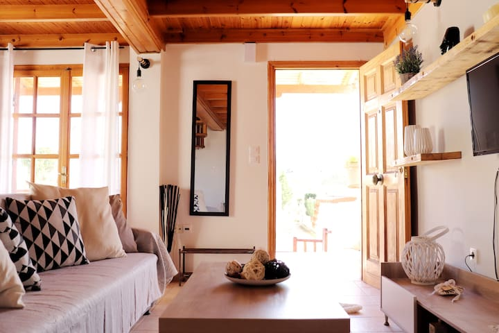 Cozy Seaside Two Level Home w/ Authentic Wood Deco