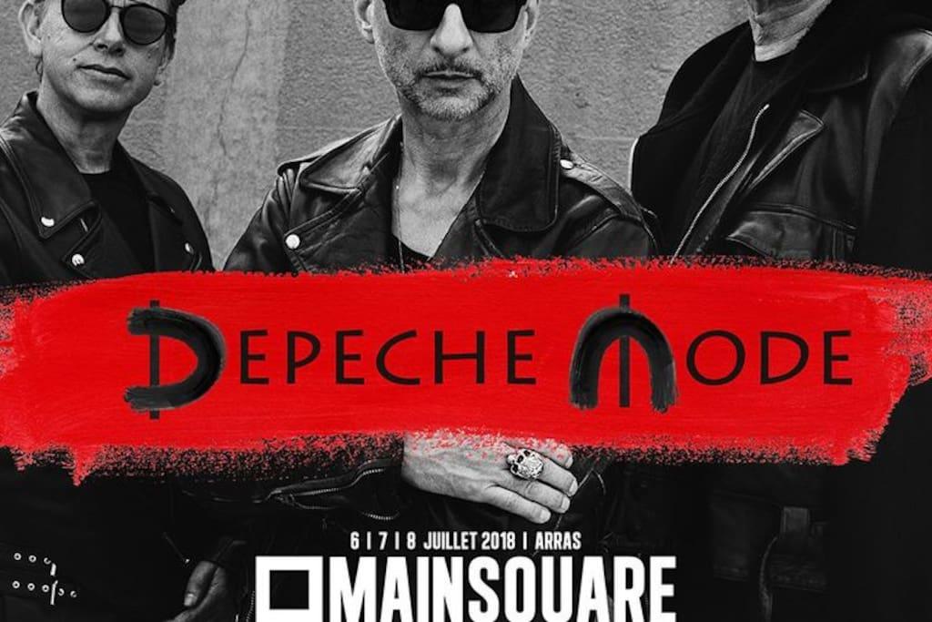 exclusivité  main square 2018 depeche mode
