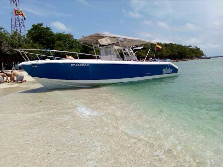 Cartagena Boat charter  Cholon Baru Rosario, Party