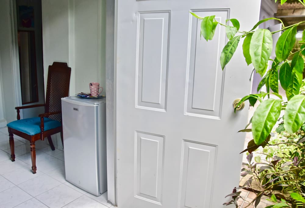 Private entrance to upgraded room