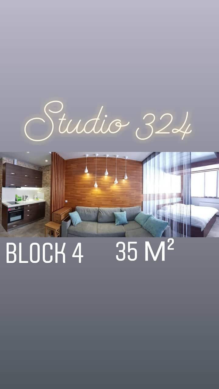 324 Gudauri Luxe studio, 4 block in New Gudauri