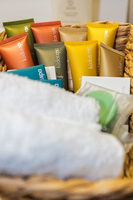 House is stocked with hotel cosmetics and amenities so you can travel light