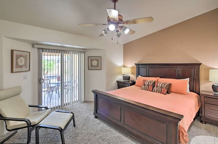 The master suite is a spacious retreat.