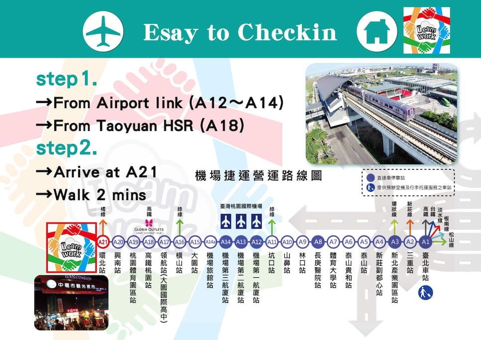 Next to airport line A21 station