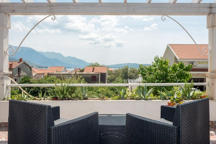 20 square meter terrace with a beautiful view