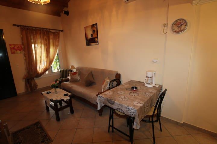 Dimitris Maisonette Acharavi Corfu Living And Dining Area