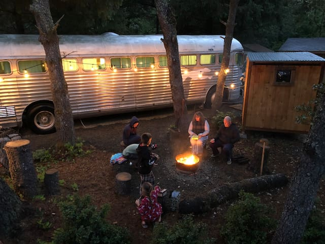 """""""The 48"""" A Beach Bus Glamping Experience"""