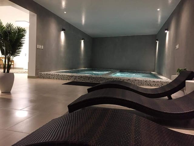 Hot tub. Jacuzzi. Spa Area.
