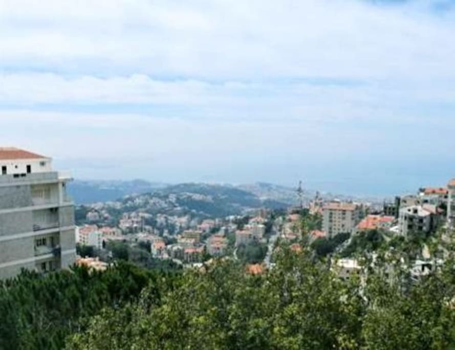 View of Beirut and Jounieh...sea