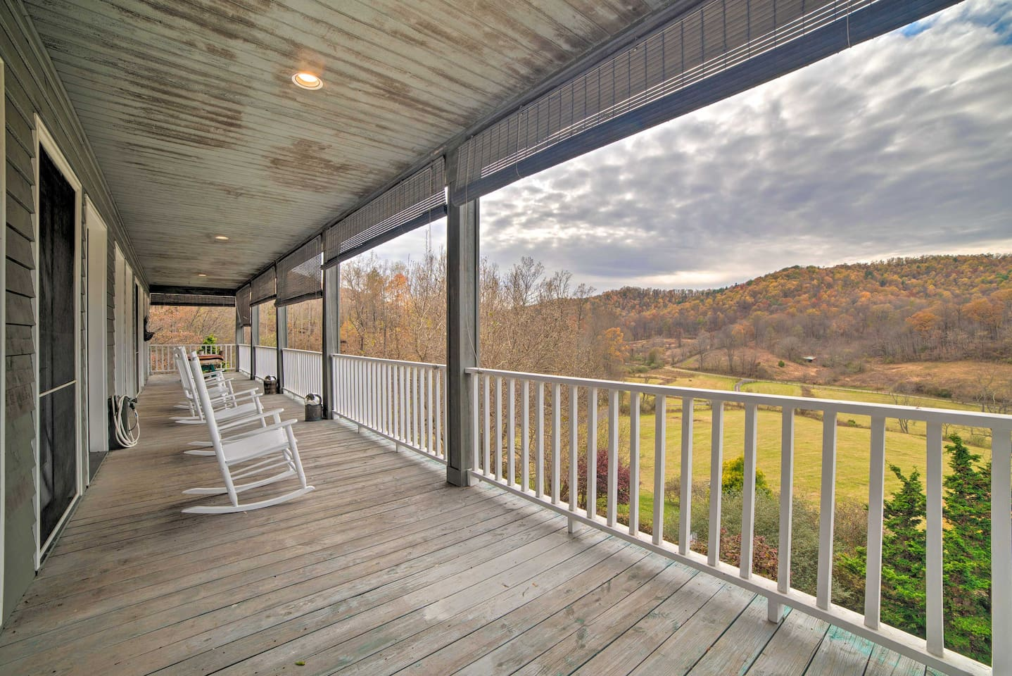 Take in the sweeping views from the wraparound porch of this Madison cottage.