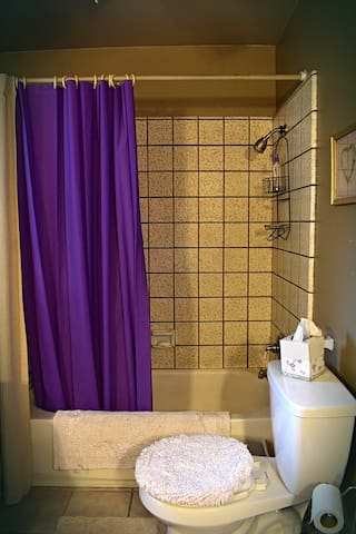 Full bath/shower with lavender scents to soothe the muscles after hiking.
