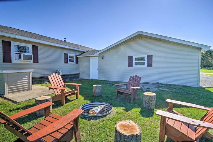 NEW! Smart Home Near Flowage Lake w/ Fire Pit